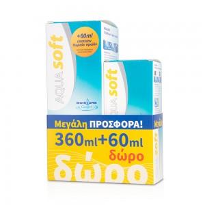 AQUA SOFT Διάλυμα Φακών Επαφής (360ml) ΜΕ ΔΩΡΟ ΕΠΙΠΛΕΟΝ 60ml