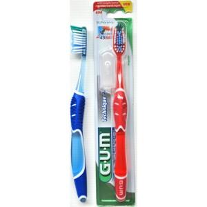 GUM Technique Full Soft 490 Οδοντόβουρτσα για προηγμένο βούρτσισμα, Πατενταρισμένη λαβή Quad