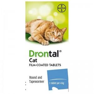 Bayer Drontal Cat Δισκία Συμπλήρωμα Διατροφής Αντιπαρασιτικό για Γάτες 1τμχ
