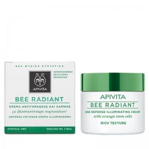 Apivita Bee Radiant Κρέμα Αντιγήρανσης και Λάμψης με Πλούσια Υφή με Βλαστοκύτταρα πορτοκαλιού 50ml