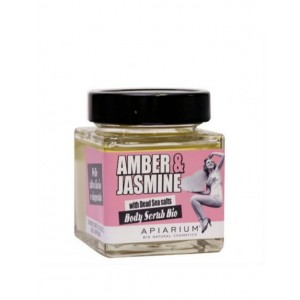 Apiarium Amber & Jasmine Body Scrub Bio 410gr (Βιολογικό Peeling Σώματος Κεχριμπάρι & Γιασεμί)