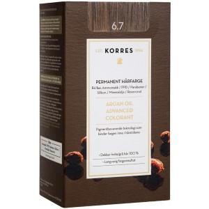 Korres Argan Oil Advanced Colorant Βαφή Μαλλιών 6.7 Κακάο 145ml