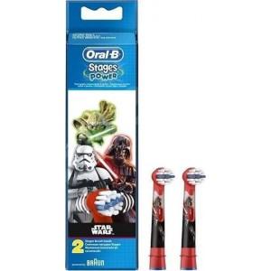 Oral-B Stages Power Star Wars, Ανταλλακτικά για Ηλεκτρ. Παιδική Οδοντόβουρτσα Star Wars 2Τμχ