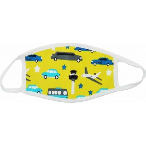 Garden Υφασμάτινη Μάσκα Πολλαπλών Χρήσεων Παιδική Αυτοκινητάκια  2τμχ