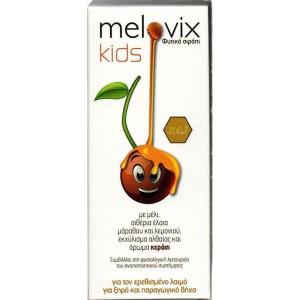 Melovix Kids Παιδικό φυτικό σιρόπι για τον ερεθισμένο λαιμό, για ξηρό και παραγωγικό βήχα, 200ml