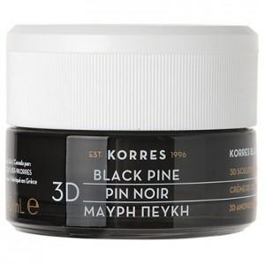 Korres Black Pine Μαύρη Πεύκη 3D Πλούσια Αντιρυτιδική & Συσφιγκτική Κρέμα Νύχτας για Όλους τους Τύπους Επιδερμίδας, 40ml
