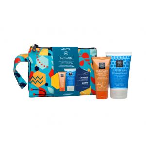 APIVITA Suncare Sensitive Face Cream SPF50 με Χαμομήλι & 3D Pro-Algae 50ml & ΔΩΡΟ After Sun Cooling με Αλόη 100ml +Νεσεσέρ