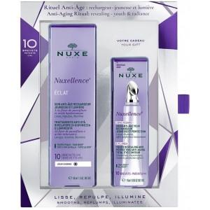 Nuxe Nuxellence Set Eclat Αντιγηραντική Κρέμα-Ορός Ημέρας, 50ml & Anti-Age Yeux Αντιγηραντική Φροντίδα Λάμψης για τα Μάτια, για Όλες τις Ηλικίες, 15ml