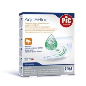 PIC SOLUTION AquaBloc Αυτοκόλλητο Επίθεμα Αδιάβροχο 10cm x 8cm 5 Τεμάχια