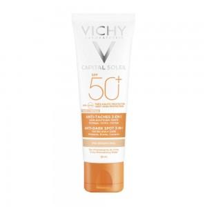 Vichy Ideal Soleil SPF50+ Anti Spot Αντιηλιακή Προσώπου κατά των Κηλίδων με Χρώμα & μη Λιπαρή Υφή, 50ml