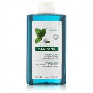 Klorane Anti-Pollution Detox Shampoo with Aquatic Mint Σαμπουάν Αποτοξίνωσης, 400ml