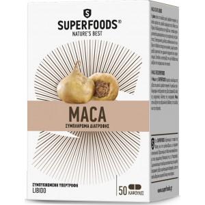 Superfoods Maca Eubias  Αφροδισιακή δράση. 50caps
