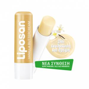 Liposan Vanilla Buttercream Περιποιητικό Βάλσαμο Χειλιών με Αισθησιακό Άρωμα Βανίλια, 4.8g