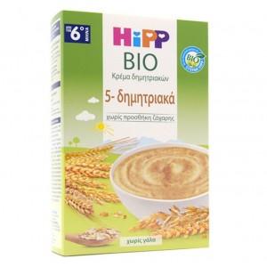 Hipp Κρέμα 5 Δημητριακών Χωρίς Γάλα ,Από τον 6ο Μήνα 200gr.