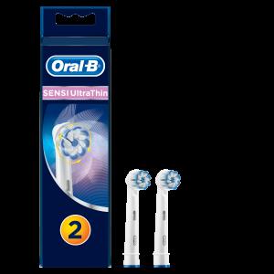 OralB Sensi Ultra Thin Ανταλλακτικά Βουρτσάκια Ηλεκτρικής Οδοντόβουρτσας, 2 τεμάχια