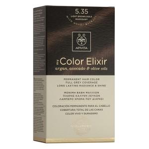 APIVITA My Color Elixir, Βαφή Μαλλιών No 5.35 - Καστανό Ανοιχτό Μελί Μαονί