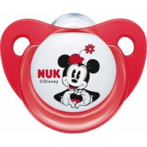 Nuk Trendline Disney Minnie Σιλικόνης Φουξ 0-6m 1τμχ 10.730.325