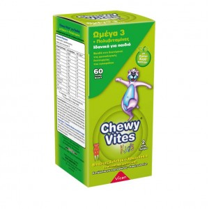 Chewy Vites Jelly Bears Iron (Σιδηρος) 60 Μασώμενα Zελεδάκια