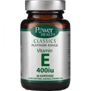 Power Health Classics Platinum Vitamin E 400iu Για Αναπαραγωγή & Δέρμα 30 Κάψουλες