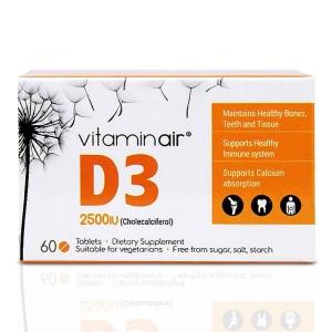 Medicair Vitaminair D3 2500iu 60 Κάψουλες