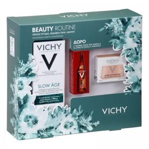 VICHY Set Slow Âge Fluid SPF25 50ml & Liftactiv Glyco-C Night Peel Ampoules 2ml & Double Glow Peel Mask 15ml