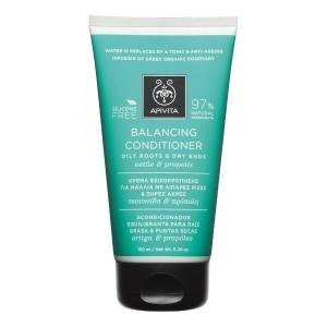 Apivita Holistic Hair Care Kρέμα Εξισορρόπησης για Μαλλιά με Λιπαρές Ρίζες & Ξηρές Άκρες με Τσουκνίδα & Πρόπολη 150ml