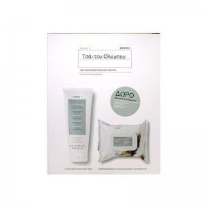 KORRES Olympus Tea - Γαλάκτωμα Καθαρισμού 3 σε 1 200ml & ΔΩΡΟ Deep Detox Μαντηλάκια Καθαρισμού & Ντεμακιγιάζ (200ml)