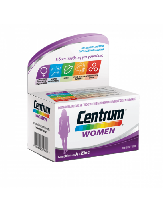 CENTRUM WOMEN Complete from A to Zinc 60tabs.