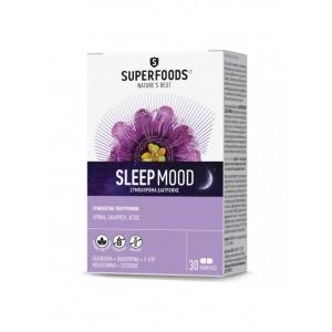 Superfoods Sleep Mood Συμπλήρωμα Διατροφής Για Την Μείωση Της Αϋπνίας, 30 Caps