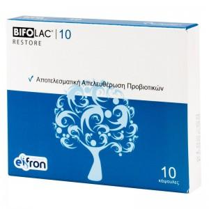 Bifolac Adults Restore Συμπλήρωμα Διατροφής - Αποτελεσματική Απελευθέρωση Προβιοτικών 10caps.
