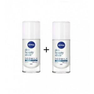 Nivea Roll-On Beauty Elixir Deomilk Fresh Αποσμητικό 40ml 1+1 ΔΩΡΟ.