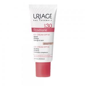 Uriage Roseliane Cc Creme T SPF30, Ενυδατική Κρέμα Κατά της Ερυθρότητας με Χρώμα, 40ml