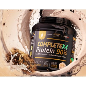 Scn CompleteX4 Egg/Whey/Beef isolate & hydrolyzed Protein formula 90% (Choco cookies) 900gr - Πρωτεϊνούχο συμπλήρωμα 4 πηγών