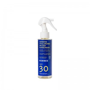 Korres Ginseng & Hyaluronic Splash Sunscreen SPF30 Αντηλιακό Ginseng & Υαλουρονικό με Υψηλή Προστασία για Πρόσωπο & Σώμα, 150ml