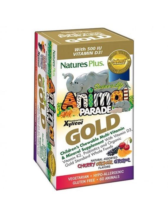 Nature's Plus Animal Parade GOLD Assorted Flavors 60 μασώμενες ταμπλέτες