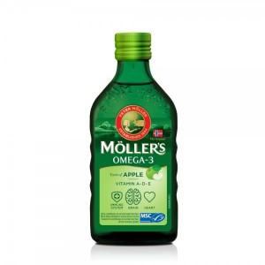 MOLLER'S - Μουρουνέλαιο (Cod Liver Oil) Apple Flavour - 250ml