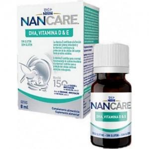 Nestle NanCare DHA, Βιταμίνη D & E Συμπλήρωμα Διατροφής σε Σταγόνες με DHA, Βιταμίνη D3 & Βιταμίνη Ε, 8ml