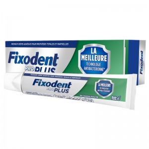FIXODENT Pro Plus Antibacterial Technology Στερεωτική Κρέμα για Τεχνητή Οδοντοστοιχία 40g