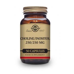 SOLGAR Choline-Inositol 250/250mg 50 Φυτικές Κάψουλες