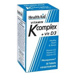 Health Aid Vitamin K Complex & Vit D3 30tabs