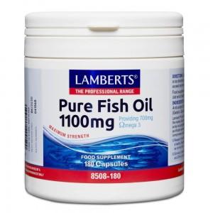 Lamberts Pure Fish Oil 1100MG (EPA) , (Ωμέγα-3), 180 caps