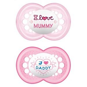 Mam Πιπίλα Ι Love Mummy & Daddy Σιλικόνης 6-16 μηνών