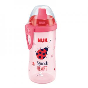 NUK First Choice Flexi Cup Παγουράκι 300 ml με καλαμάκι Soft 12+M (10.255.410) Ροζ