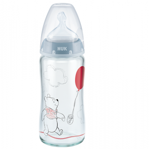 NUK - Disney Baby First Choice+ Μπιμπερό Γυάλινο Θηλή Σιλικόνης 0-6m (10.745.120) | 240ml