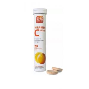 NutraLead Vitamin C 550mg με Γεύση Πορτοκάλι, 20 Αναβράζοντα δισκία