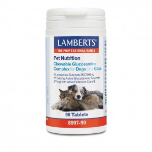 Lamberts Pet Nutrition Chewable Glucosamine Complex Cats & Dogs, Συμπληρωματική Ζωοτροφή για Σκύλους και Γάτες 90Τabs