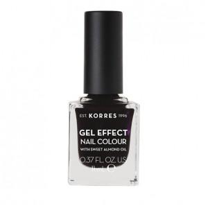 Korres Gel Effect Nail Colour With Sweet Almond Oil No.76 Smokey Plum 11ml