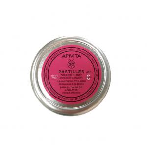 Apivita Pastilles Παστίλιες για τον πονεμένο λαιμό και το βήχα με βατομουρο & προπολη 45 g