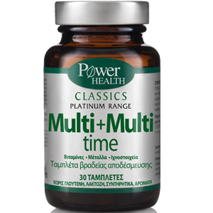 Power Health Classics Platinum Multi + Multi Time Ισχυρή Πολυβιταμίνη,  30 tabs