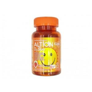 Altion Kids D3 Sun Συμπλήρωμα Διατροφής για Παιδιά με Βιταμίνη D3 και Γεύση Φράουλα, 60 Ζελεδάκια